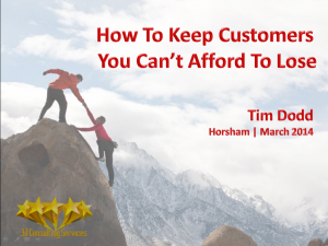How To keep Customers Slide 1