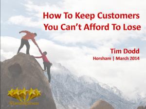 How To keep Customers Slide 1
