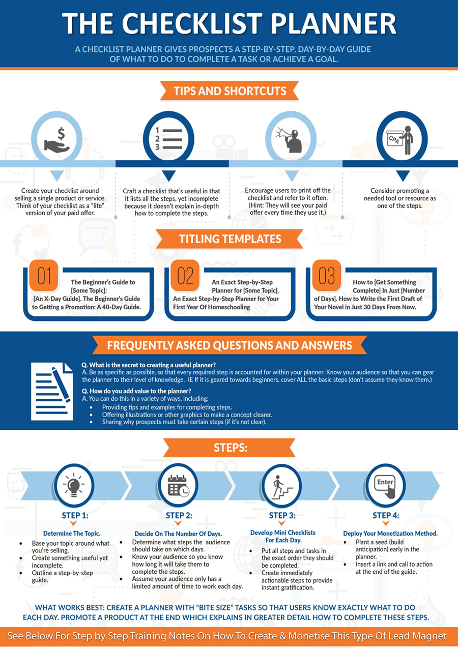 Checklist Lead Magnet Planner